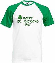Reality Glitch Herren Happy St Patrick's Day T-Shirt ( Grün/Weiß, XX-Large)