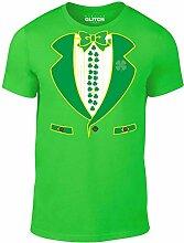 Reality Glitch Herren Leprechaun Suit T-Shirt (Irisches Grün, XXX-Large)