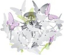 Reality Leuchten Deckenleuchte Butterfly in weiß