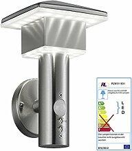 Reality Trio LED-Wandleuchte RL129, Wandlampe Außenleuchte, EEK A ~ 7,5W mit Bewegungsmelder