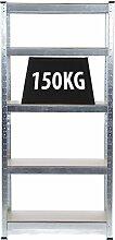 Really Useful, 5Etagen aufzustellen verzinkt, Steckregal/Garage Gewächshaus Regal Stahl & MDF Regalen aufzustellen oder Werkbank–Massive 750kg Tragkraft 150kg pro Regal | 150cm H 70cm W CM 30cm D