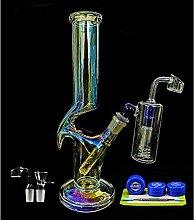 REANICE Bong Glas 14mm Hookah Percolator Wasser