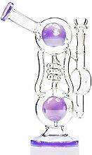 REANICE Bongs Glas Wasser Percolator Bubblers
