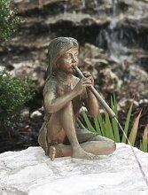 Rebecca Bronzefigur Skulptur aus Bronze echte Handarbeit Gartenskulptur Gartenfigur Garten-Statue