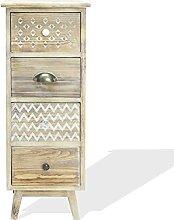 Rebecca Mobili Vintage Holz Nachttisch, Kleine