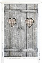 Rebecca SRL Schrank Möbel Sideboard weiß Shabby Chic Home Decor Hall Lounge Küche Badezimmer (Cod. re4563)