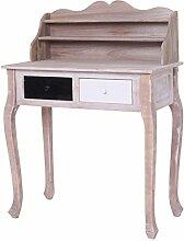 Rebecca Srl Schreibtisch Konsole Sideboard 2 Fachböden 2 Schubladen schwarz weiß Holz Schlafzimmer Arbeitszimmer (Code RE4110)