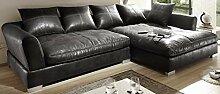 Reboz Big Sofa Ecksofa Vintage Braun Schwarz