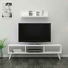 Reboz TV Lowboard Weiß 120 cm Fernsehtisch Board
