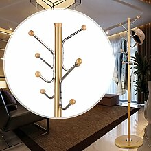 RECA Kleiderablage Aluminium-Legierung Kleiderständer einfache Kleiderständer Boden einfache Kleiderbügel Kleiderständer Schlafzimmer Wohnzimmer kreative Montage ( Farbe : Gold )