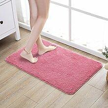 Rechteck-Badezimmer-Tür-saugfähige Matten-Tür-Matten-Schlafzimmer-Teppich ( Color : Pink )