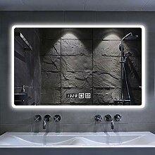 Rechteck Beleuchtet Badezimmerspiegel Mit