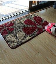 Rechteck Blumenmuster Kreativ Leicht zu reinigen Anti-Rutsch-Wasserabsorption Wohnzimmer Schlafzimmer Eingangsbereich Badezimmer Teppich ( Farbe : B , größe : 40*60cm )