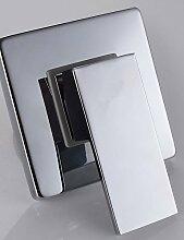 Rechteck Duschmischbatterie Steuerventil Wandmontage Einzelventil-Mischbatterie