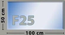 Rechteck F25 Funkenschutzplatte - Glasplatte aus