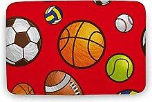 Rechteck Spielball Sport Bunt Modern Wohnzimmer
