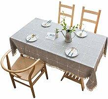 Rechteck Tischdecke,Quaste Tischdecke,Baumwolle