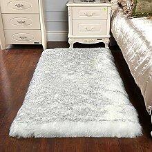 Rechteck Weichen Flauschigen Teppich Faux