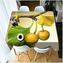 Rechteckige 3D Tischdecke gelb tropischen