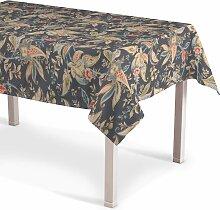 Rechteckige Tischdecke, anthrazit-braun, 130 ×