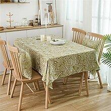 Rechteckige Tischdecke Aus Baumwolle Und Leinen,