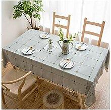 Rechteckige Tischdecke aus Naturleinen -