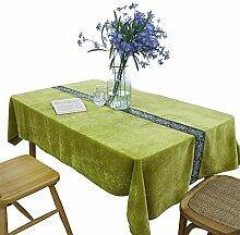 Rechteckige Tischdecke aus