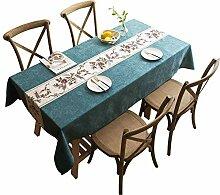 Rechteckige Tischdecke Baumwolle Leinen Tischfahne