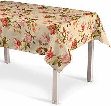 Rechteckige Tischdecke, beige, 130 × 130 cm,