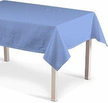 Rechteckige Tischdecke, blau, 130 × 130 cm, Loneta