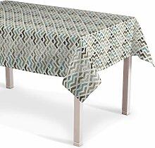 Rechteckige Tischdecke, blau-beige, 130 × 130 cm,