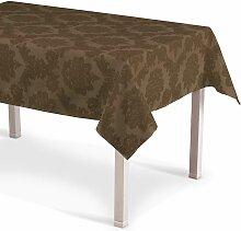 Rechteckige Tischdecke, braun , 130 × 130 cm,
