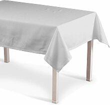 Rechteckige Tischdecke, elfenbein , 130x280 cm, Leinen