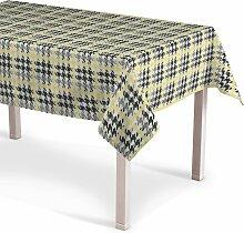 Rechteckige Tischdecke, gelb-schwarz, 130 × 130