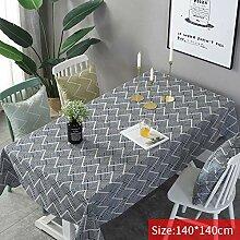 Rechteckige Tischdecke, nordischer Stil,