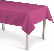 Rechteckige Tischdecke, rosa, 130 × 160 cm,