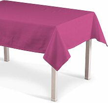 Rechteckige Tischdecke, rosa, 130 × 180 cm,