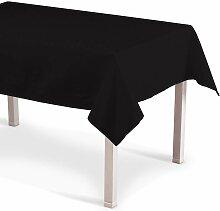 Rechteckige Tischdecke, schwarz, 130 × 130 cm,