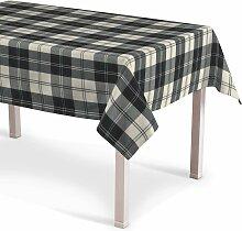 Rechteckige Tischdecke, schwarz- weiss, 130 × 130