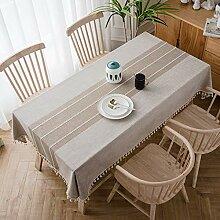 Rechteckige Tischdecke Tischtuch aus Leinen