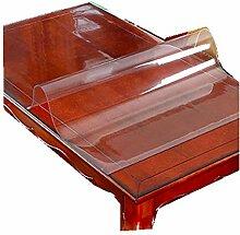 Rechteckige Tischdecke Transparent Pvc Glasplatte