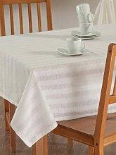 Rechteckige Tischdecke, weiß, 130 × 130 cm,