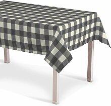 Rechteckige Tischdecke, weiss-grau kariert, 130 ×