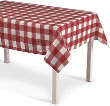Rechteckige Tischdecke, weiss-rot kariert, 130 ×