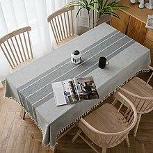 Rechteckige Tischtuch Leinen Tischdecke Garten
