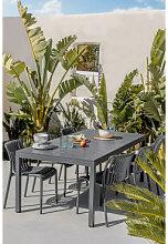 Rechteckiger Aluminium-Gartentisch (210x100 cm)