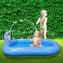 Rechteckiger aufblasbarer Sprinkler-Schwimmbad