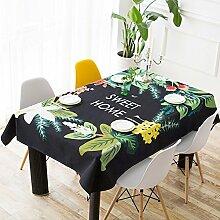 Rechteckiger Esstisch-tuch,Tuch Leinen Kleine Runde Tischdecke,Wohnzimmer Couchtisch Anti-hot Tischdecke,Tv-schrank Staubschutztuch-A 110x110cm(43x43inch)