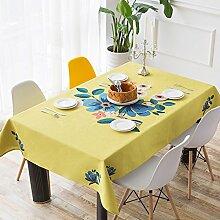 Rechteckiger Esstisch-tuch,Tuch Leinen Kleine Runde Tischdecke,Wohnzimmer Couchtisch Anti-hot Tischdecke,Tv-schrank Staubschutztuch-D 140x140cm(55x55inch)