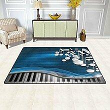 Rechteckiger Teppich für den Innen- und